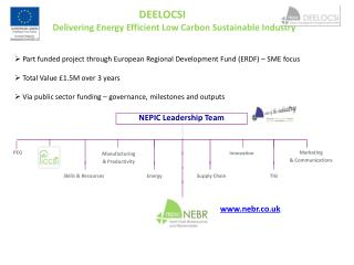 DEELOCSI 	Delivering Energy Efficient Low Carbon Sustainable Industry