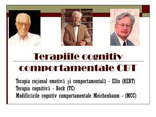 Terapiile cognitiv comportamentale CBT