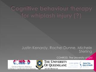 Cognitive  behaviour  therapy for whiplash injury (?)