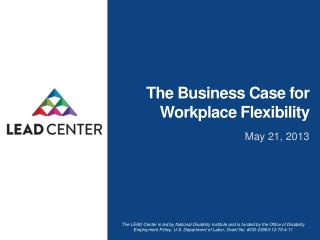 The Business Case for Workplace Flexibility
