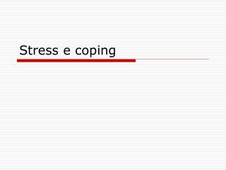 Stress e coping