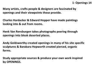 1- Openings 14