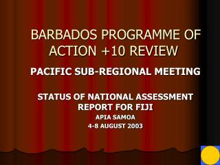 BARBADOS PROGRAMME OF ACTION +10 REVIEW