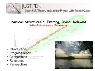 Nuclear Structure�07: Exciting, Broad, Relevant Witold Nazarewicz (Tennessee)