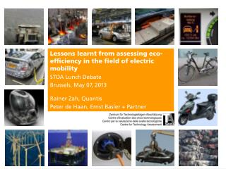 Lessons learnt from assessing eco-efficiency in the field of electric  mobility STOA Lunch  Debate