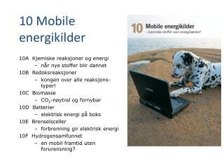 10 Mobile energikilder