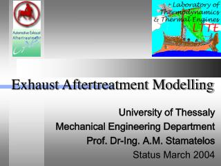 Exhaust Aftertreatment Modelling