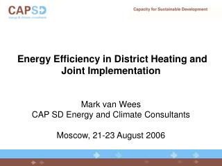 Energy Efficiency in District Heating and Joint Implementation