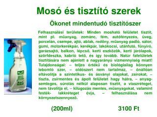 Mosó és tisztító szerek Ökonet mindentudó tisztítószer