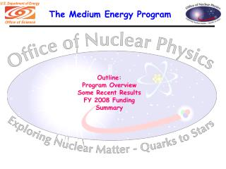 The Medium Energy Program