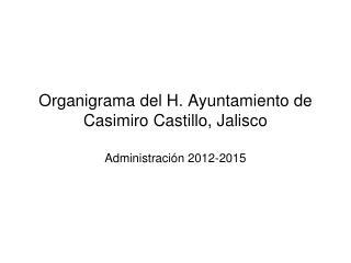 Organigrama del H. Ayuntamiento de Casimiro Castillo, Jalisco