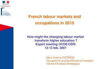 French labour markets and occupations in 2015
