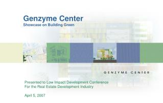 Genzyme Center Showcase on Building Green