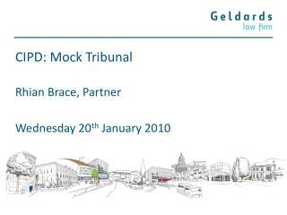 CIPD: Mock Tribunal