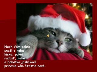 Snehuliak pod oknom  už od rána sa ti rehoce,  vyser sa na všetko  a užívaj si Vianoce.