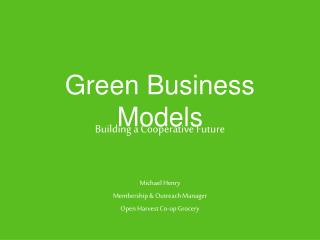 Green Business Models