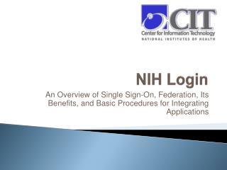 NIH Login
