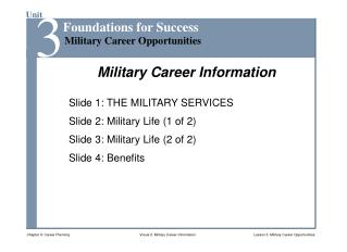 Military Career Information