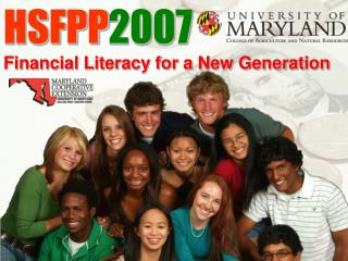 HSFPP 2007 Financial Literacy for a New Generation