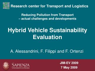 Reducing Pollution from Transport  – actual challenges and developments