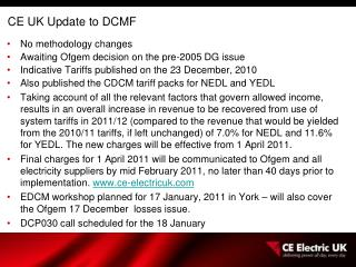CE UK Update to DCMF