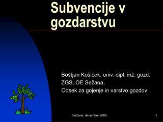 Subvencije v gozdarstvu