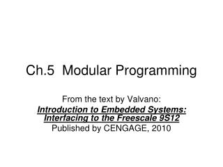 Ch.5  Modular Programming