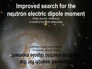 Improved search for the  neutron electric dipole moment