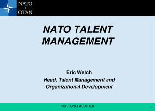 NATO TALENT MANAGEMENT