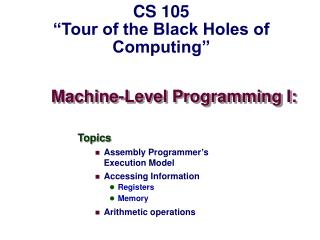 Machine-Level Programming I: