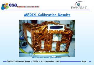 MERIS Calibration Results