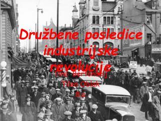 Družbene posledice industrijske revolucije