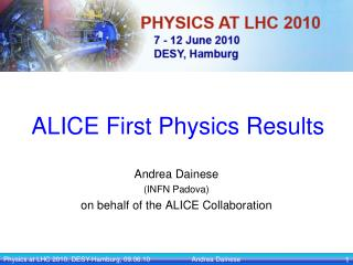 ALICE First Physics Results