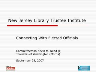 New Jersey Library Trustee Institute