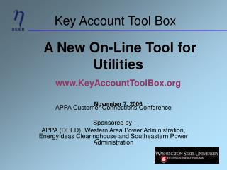 Key Account Tool Box