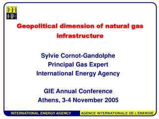 Geopolitical dimension of natural gas infrastructure
