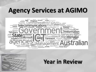 Agency Services at AGIMO