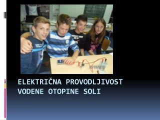 Električna provodljivost  vodene otopine soli