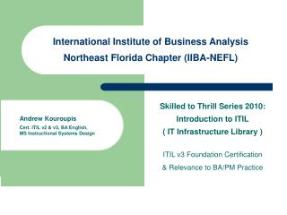 International Institute of Business Analysis  Northeast Florida Chapter (IIBA-NEFL)