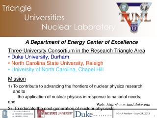 Triangle            Universities                    Nuclear Laboratory
