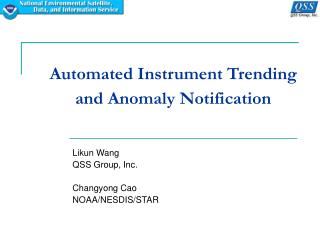 Automated Instrument Trending and Anomaly Notification