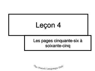 Le�on 4