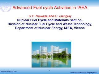Advanced Fuel cycle Activities in IAEA H.P. Nawada and C. Ganguly