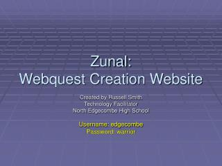 Zunal: Webquest Creation Website