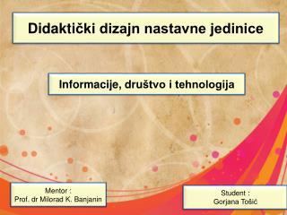 Didakti čki dizajn nastavne jedinice