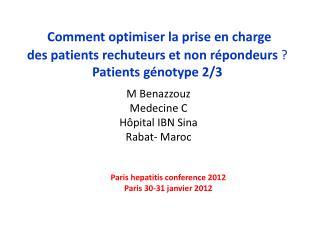M  Benazzouz Medecine  C Hôpital IBN  Sina Rabat- Maroc
