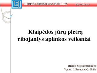 Hidrologijos laboratorijos Vyr. m. d. Brunonas Gailiušis