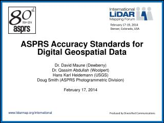 ASPRS Accuracy Standards for Digital Geospatial Data