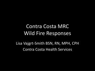 Transportation Management  for CERT Disaster Medical Operations