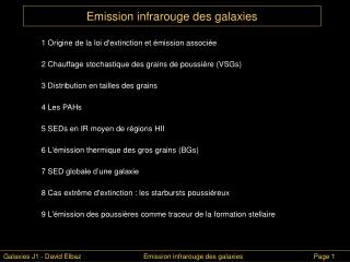 Emission infrarouge des galaxies